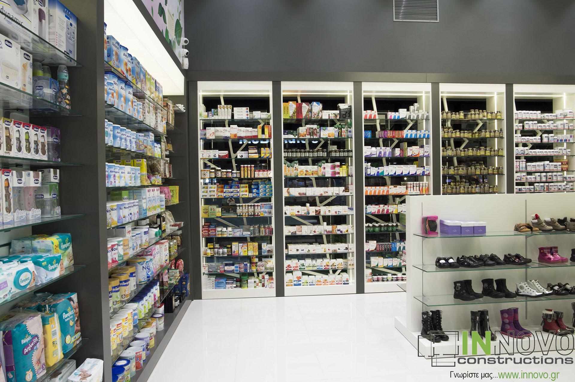 Ανακαινισμένο εσωτερικό φαρμακείου Βάρη