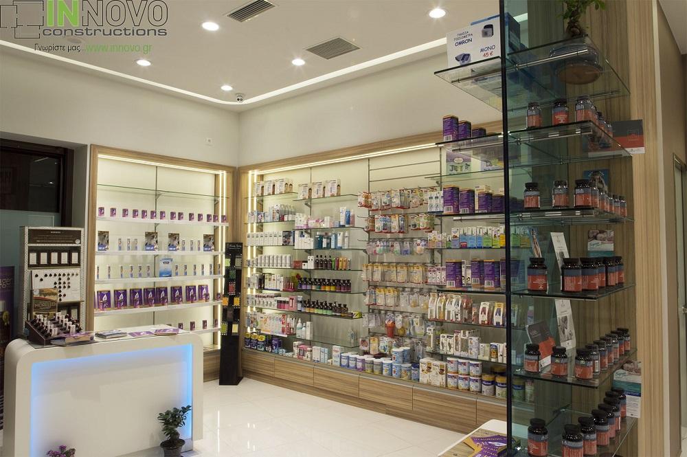 Ανακαίνιση φαρμακείου περιοχή Ίλιον