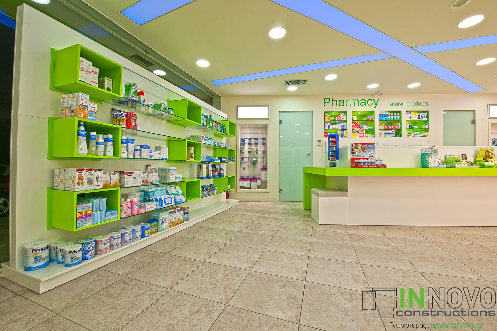 Φαρμακείου ανακαίνιση εσωτερικά στο Πέραμα
