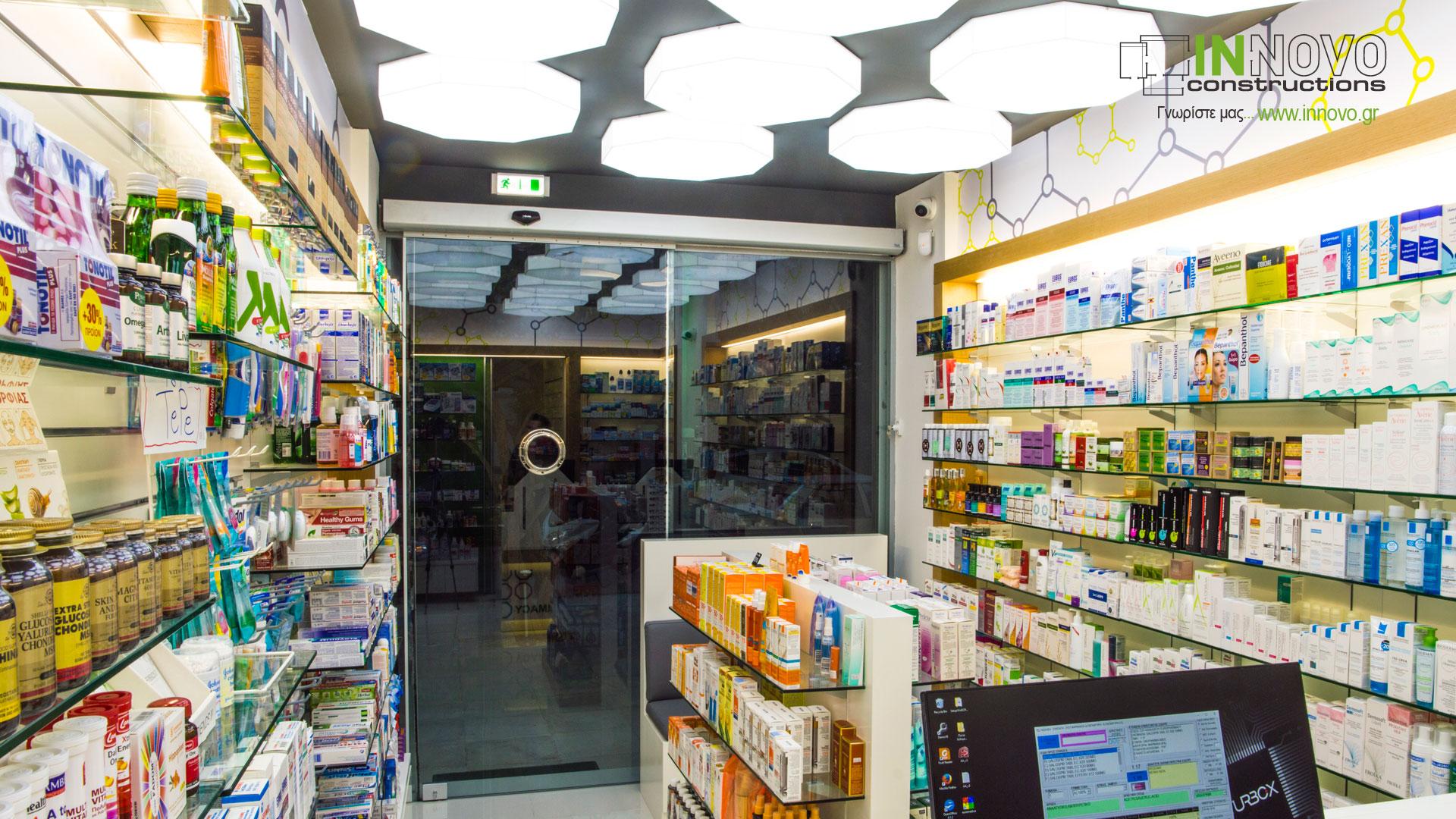 Κατασκευή φαρμακείου στη Γλυφάδα
