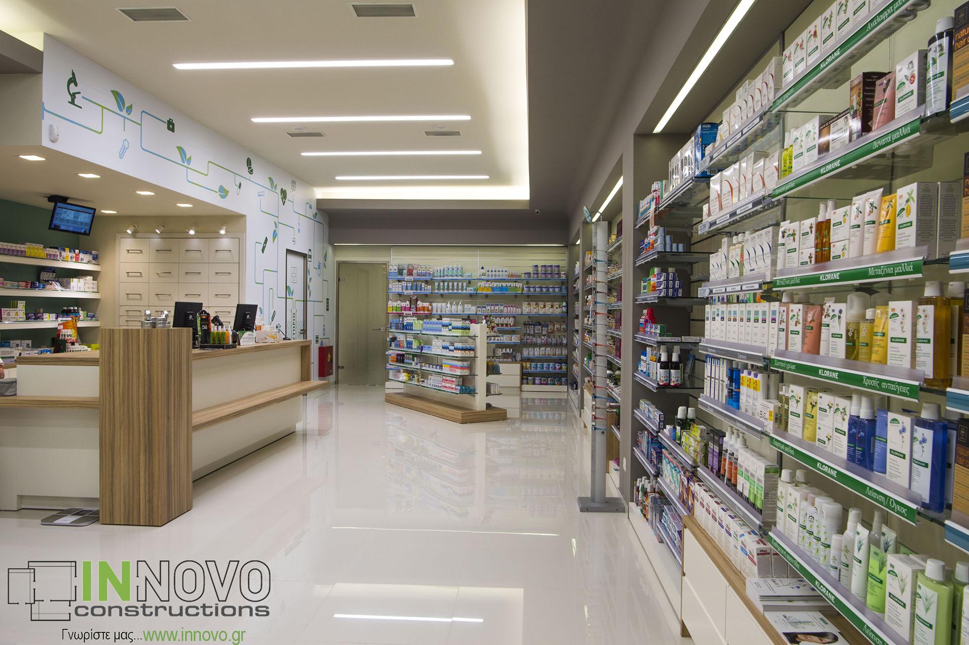 Ανακαινίσεις φαρμακείων Γέρακας